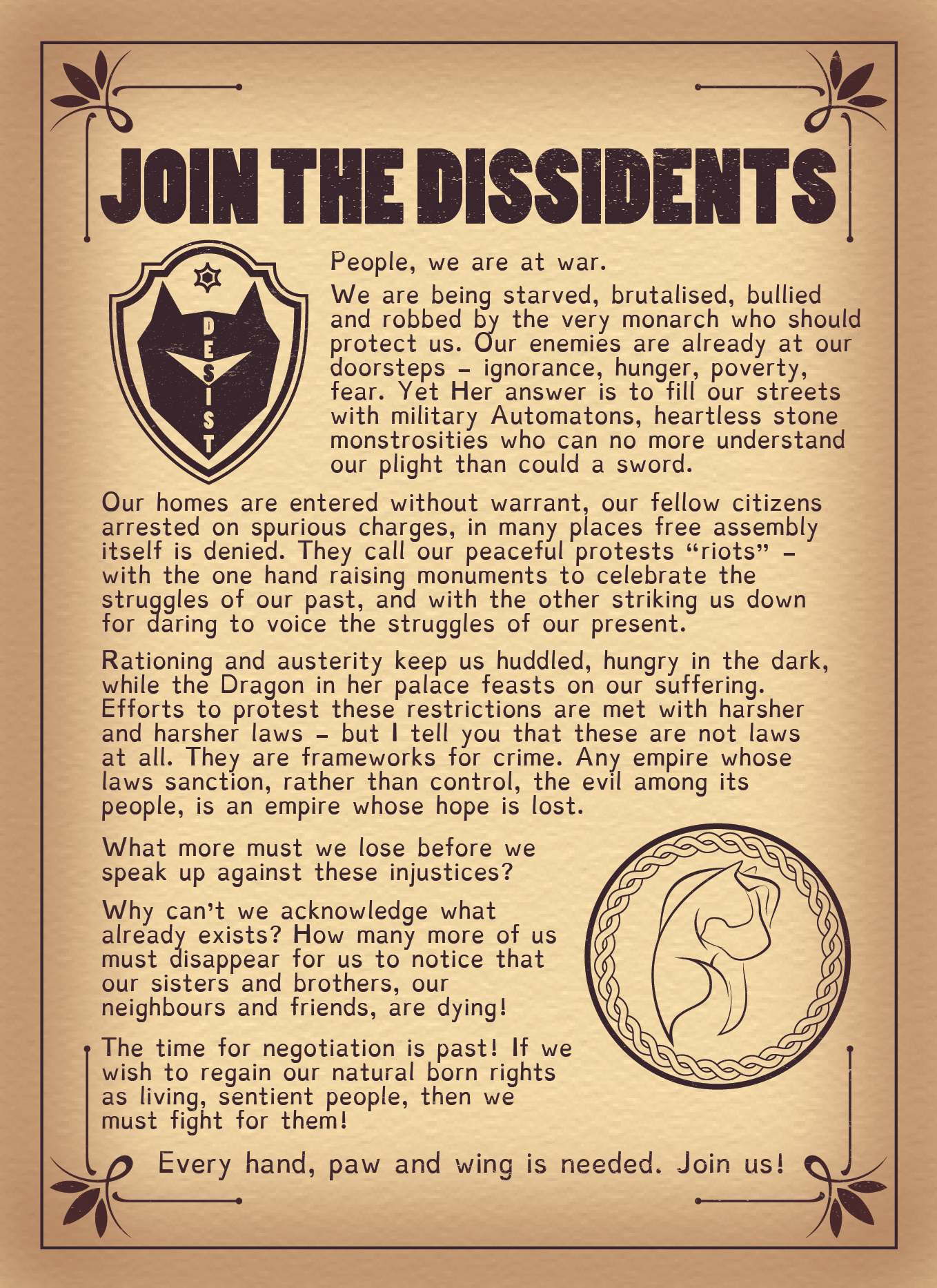 Dissidents Flyer